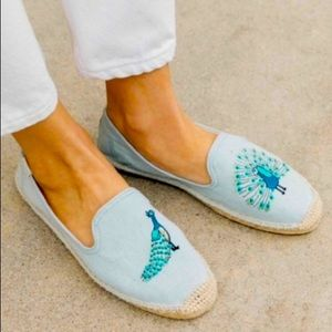 Soludos peacock denim espadrille smoking s…
